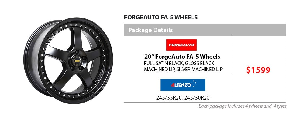 "20"" Forge Auto & Altenzo wheel & tyre package $1599"