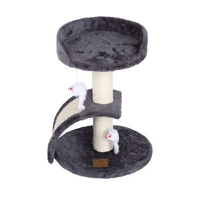 Charlie's Cat Tree with Scratching Slope - Charcoal