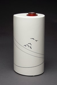 Power Lines and Cockatoos Table Vase