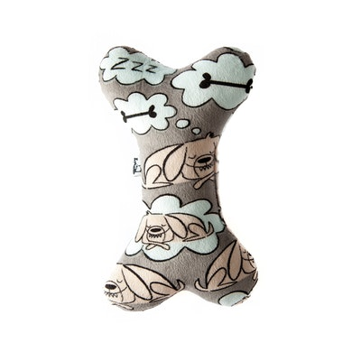 La Doggie Vita Sleeping Dog Plush Toy with Squeaker