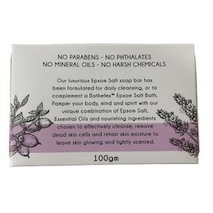 Bathefex Epsom Salt Soap Bar 100gm Lavender Vitamin E and Shea Butter