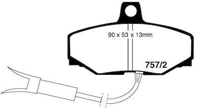 EBC ULTIMAX REAR BRAKE PADS for Jaguar XJ40 3.6, 4.0 DP07572