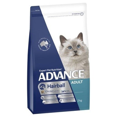 Advance Dry Cat Food Adult Hairball 2kg