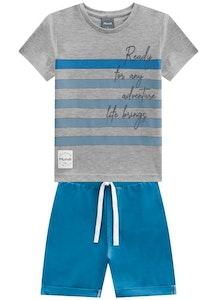 Milena Balcarcel Set T-shirt and Twill Bermuda