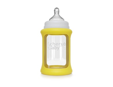Colour Change Glass Bottles Wide Neck 240ml Single Pack - Yellow