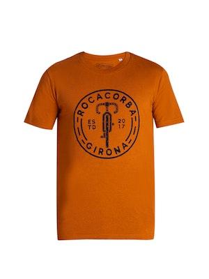 Rocacorba Clothing Girona Rocacorba Is Cycling T Shirt   Burned Orange