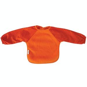 Silly Billyz Small Long Sleeve Orange Fleece Bib