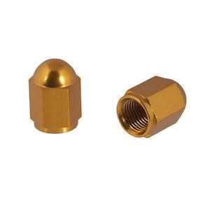 Nut Style Valve Caps - Gold