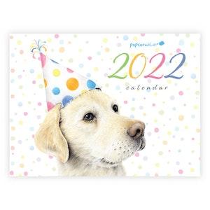 2022 Popcorn Blue Calendar