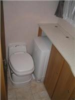 Toilet  in Jayco Sterling ensuite plus washer