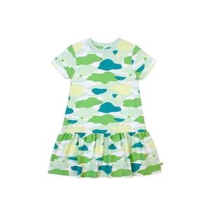 OETEO Australia Camo Flash Drop Waist Ruffle Dress (Green)