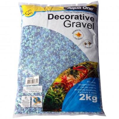 Aqua One Gravel Mixed Aqua+Blue 2kg