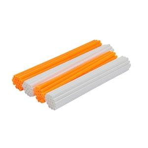Spoke Wraps - Fluro Orange and White