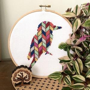 Chevron Kookaburra Cross Stitch Kit