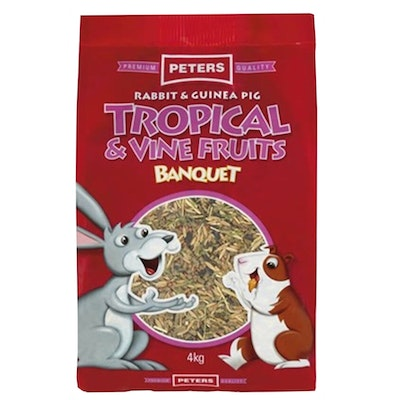 Peters Rabbit & Guinea Pig Tropical & Vine Fruits Banquet Feed - 2 Sizes