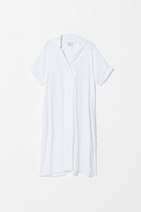 ELK FLEKKE DRESS WHITE