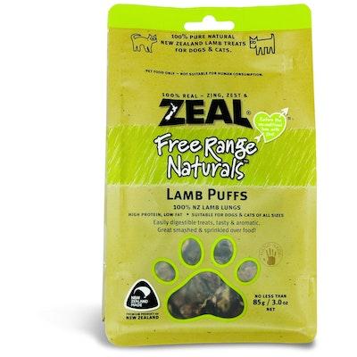 Zeal Free Range Naturals Lamb Puffs Dog Treats 85G