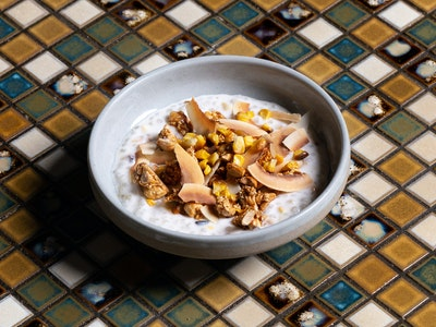 Grilled Corn and Coconut Tapioca Pudding