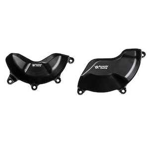 Bonamici Racing Engine Cover Protection Kit To Suit Ducati Panigale V4/S 2018 - Onwards (Black)