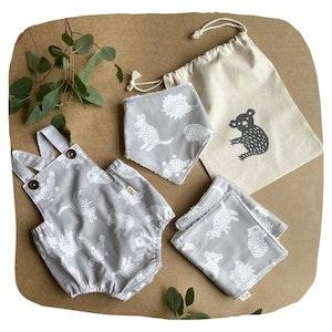 Romper Baby Bundle - Grey Little Aussie