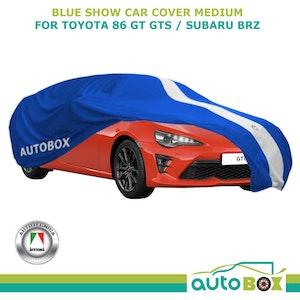 Blue Medium Washable Show Car Cover fits Toyota 86 GT GTS / Subaru BRZ Softline
