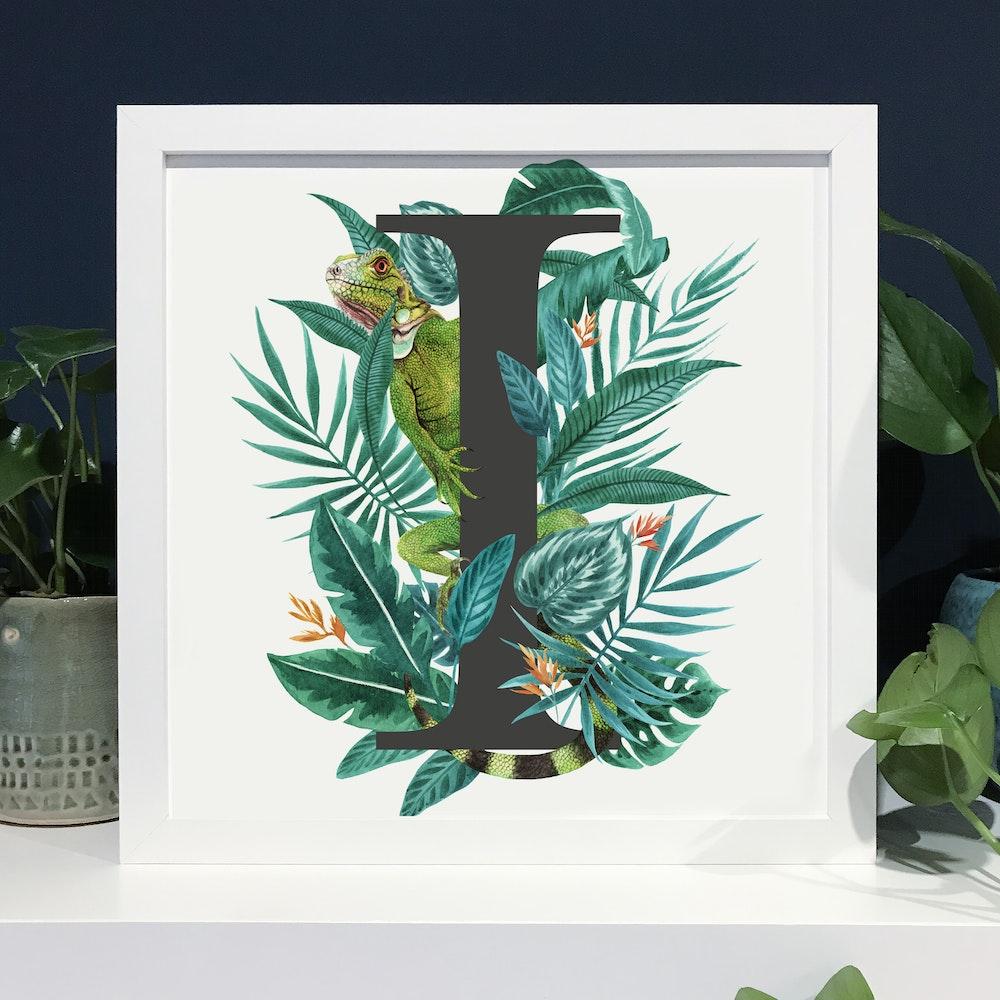 Laura Elizabeth Illustrations I For Iguana Fine Art Print