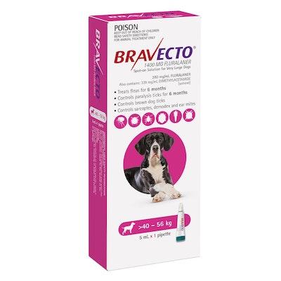 BRAVECTO Spot On 40-56kg Dog 6 Month Pack