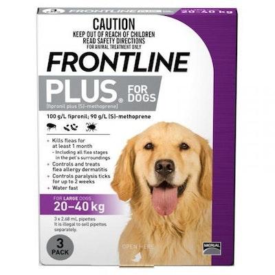 Frontline Plus - Flea Treatment for Dogs 20kg - 40kg