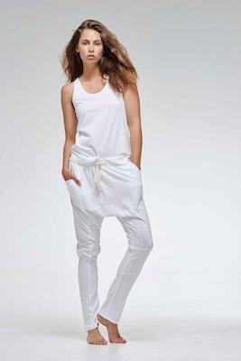 Global Sisters Shop Organic Cotton Lounge Pants - White