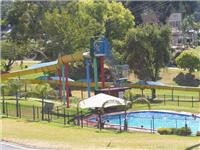 Lake Hume Tourist Park pool and water slide
