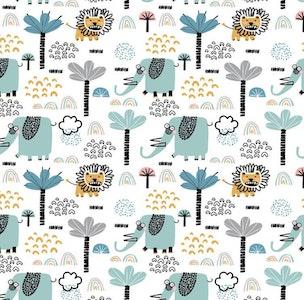 The Sleepover by Spotty Giraffe - Animal Design 77cm x 110cm