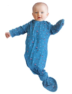 Keep Me Cosy® Bamboo Baby Knotted Gown - Nautical Teal