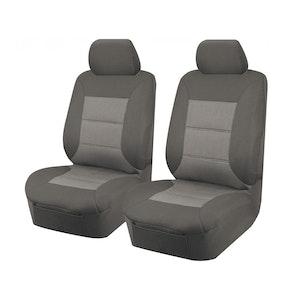 Premium Car Seat Covers For Mitsubishi Triton Mq-Mr Series 2015-2020 Single/Club Cab | Front Only Grey