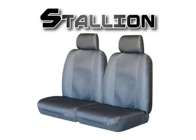 Canvas Seat Covers For Toyota Hilux 03/2009-2020 Grey Dual-Cab