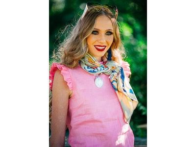 Hitchley & Harrow LC09-4 Baby Pink Sleeveless Linen Ruffle Top