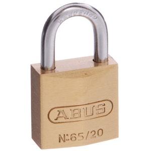 ABUS Brass Padlock 65/20 Keyed to Differ