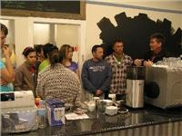 Anthony and Peter Herring and team learn how to make Melbourne coffee