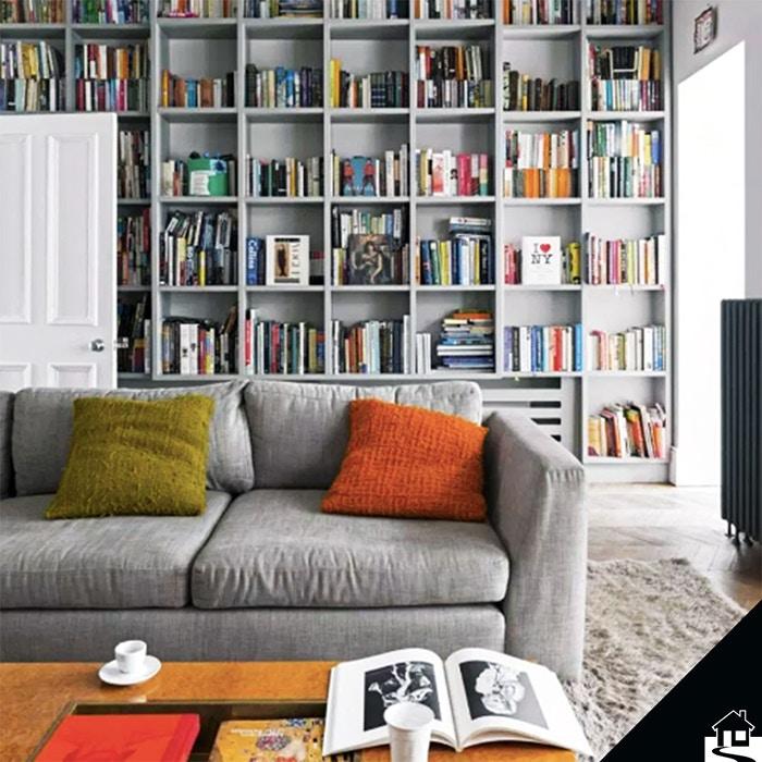 Een boekenkast maakt de woonkamer gezelliger dan ooit