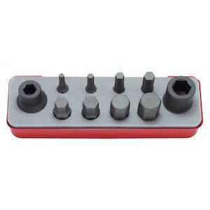 "Inhex Socket Set Impact 10 Piece 1/2""Dr 5-19MM KO14209M Koken"