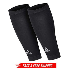 Adidas Compression Calf Sleeves Shin Splint Support  - Black