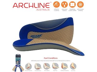 Boutique Medical ARCHLINE 3/4 Slim Orthotics Plantar Fasciitis Insoles Balance Support Relief