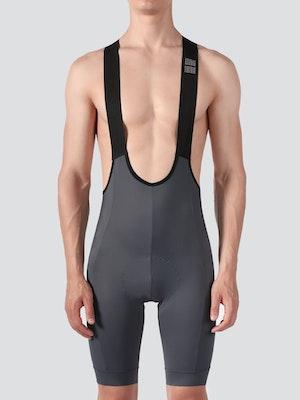 Soomom Men's Essential Cycling Bib Shorts - Grey