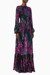 ELLIATT Aurelia Maxi Dress Multi Sequined