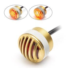 Solid Brass Mini Flush Mount Prison Grill LED Stop/Tail Light