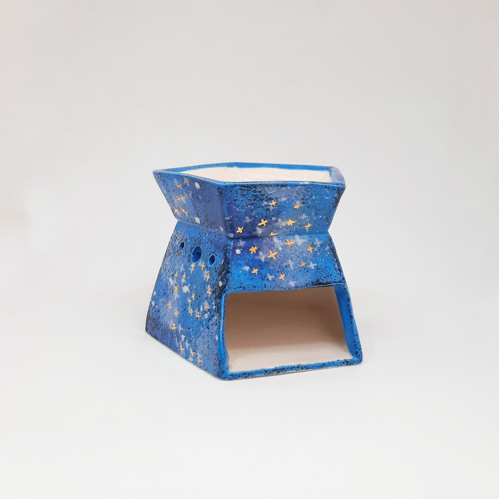 Lauren Michelle Designs  Blue Galaxy Wax Burner