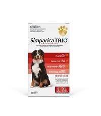 SIMPARICA TRIO 40.1kg - 60kg Dog Flea, Tick & Worm Chew