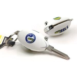 Creative Keys NRL Footy Flip Key Blank with Keyring LW4 - Parramatta Eels