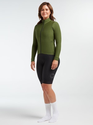 Black Sheep Cycling Women's Elements LS Thermal Jersey - Black Forest