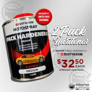Motospray 2 Pack Hardener 2:1 1L - Medium