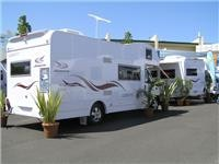 The Euro version of the Conquest motorhome from Jayco at Leisurefest Sandown Racecourse